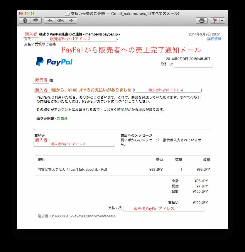 021_PayPal入金メール