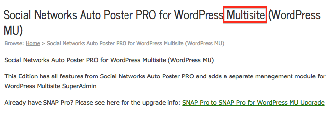 Social Networks Auto Poster PRO for WordPress Multisite