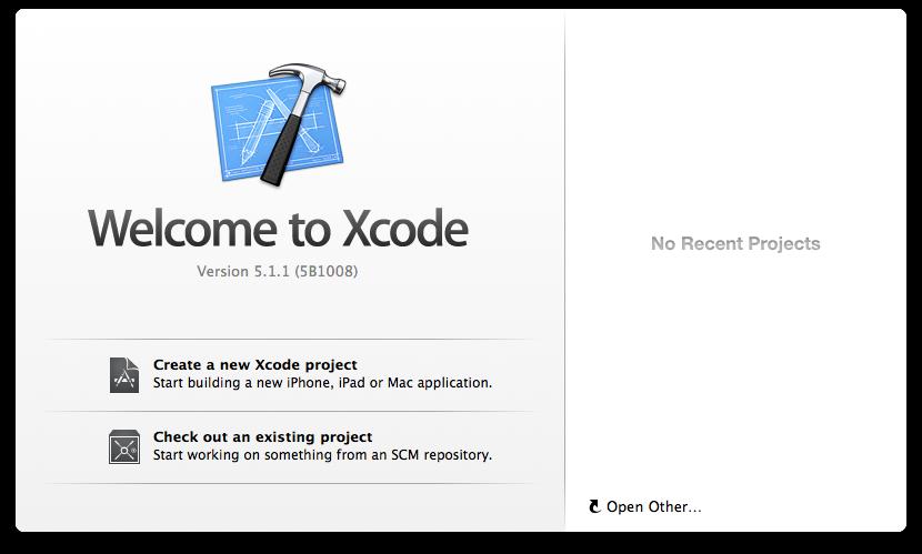 Xcode起動