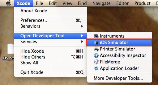 iOSシミュレータ起動