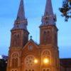 ホーチミン夕方〜夜→帰国★カンボジア・ベトナムに行ってきました(17)5日目その3 #サイゴン大聖堂 #ホーチミン中央郵便局 #ホーチミン #HoChiMin #ベトナム #Vietnam